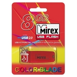 8GB USB Drive Mirex CHROMATIC RED (13600-FMUCRR08)