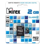 Карта памяти Mirex microSDHC (Class 4) 2GB (13613-ADTMSD02)