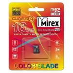 Карта памяти 16Gb MicroSD MIREX 13612-MC10SD16