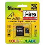 Карта памяти 4GB MicroSD Mirex 13613-ADTMSD04
