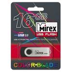 16GB USB Drive Mirex SWIVEL RUBBER BLACK (13600-FMURUS16)