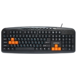 Клавиатура Nakatomi Navigator KN-11U Black-Orange USB