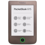 Электронная книга PocketBook 615 Basic 3 (PB615-X-CIS) Dark Brown