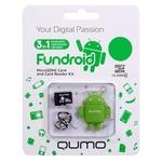 Карта памяти 8GB MicroSD QUMO QM8GCR-MSD10-FD Green