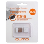 16GB USB Drive Qumo Nano White
