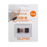 4GB USB Drive QUMO NANO Black