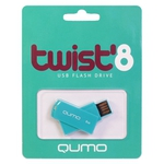 8GB USB Drive QUMO Twist Turquoise