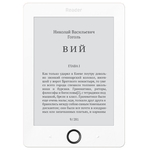 Электронная книга Reader Book 1 6 E-ink HD Pearl 1024x758 1Ghz 256Mb/4Gb белый RB1-WB-RU