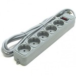 Сетевой фильтр Gembird 5 розеток, серый, 1.5 м (SPG3-B-5PP)