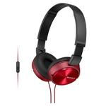 Наушники с микрофоном Sony MDR-ZX310AP (красный)