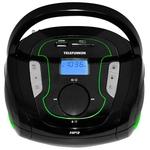 Портативная аудиосистема TELEFUNKEN TF-SRP3471B чёрный с зелёным