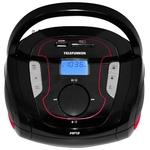 Портативная аудиосистема TELEFUNKEN TF-SRP3471B чёрный с красным