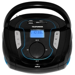 Портативная аудиосистема TELEFUNKEN TF-SRP3471B чёрный с синим
