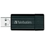 16GB USB Drive Verbatim PinStripe 49063 Black