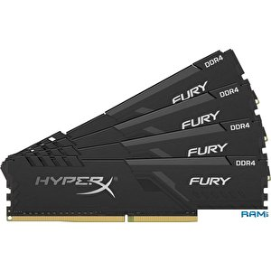 Оперативная память HyperX Fury 4x16GB DDR4 PC4-24000 HX430C15FB3K4/64