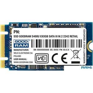 SSD GOODRAM S400U 256GB SSDPB-S400U-256-42