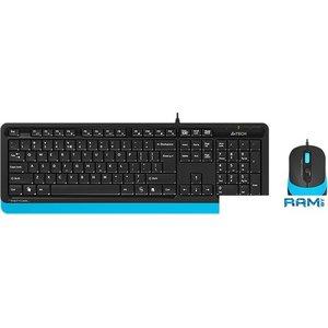 Клавиатура + мышь A4Tech Fstyler F1010 (черный/синий)