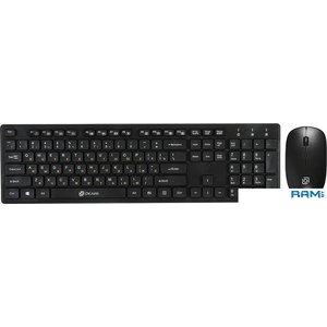 Клавиатура + мышь Oklick 240M (черный)