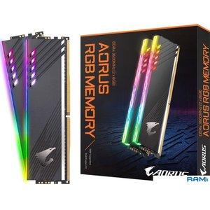 Оперативная память Gigabyte Aorus RGB 2x8GB DDR4 PC4-28800 GP-AR36C18S8K2HU416R