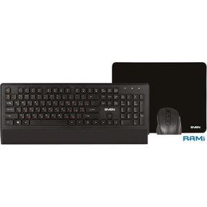 Клавиатура + мышь с ковриком SVEN KB-C3800W
