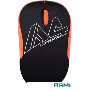 Мышь A4Tech G3-300N (черный/оранжевый)
