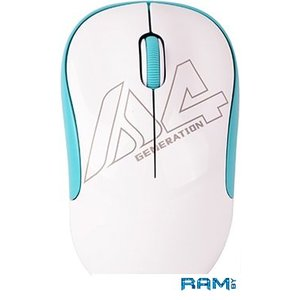 Мышь A4Tech G3-300N (белый/голубой)