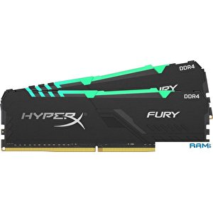 Оперативная память HyperX Fury RGB 2x8GB DDR4 PC4-28800 HX436C17FB3AK2/16