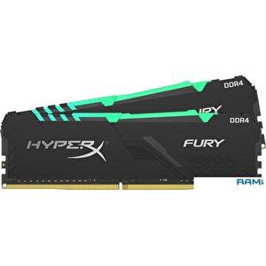 Оперативная память HyperX Fury RGB 2x16GB DDR4 PC4-29800 HX437C19FB3AK2/32