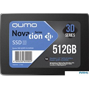 SSD QUMO Novation 3D TLC 512GB Q3DT-512GPGN