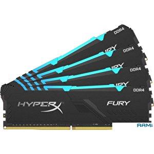 Оперативная память HyperX Fury RGB 4x8GB DDR4 PC4-28800 HX436C17FB3AK4/32