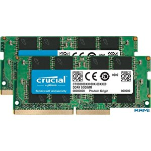Оперативная память Crucial 2x4GB DDR4 SODIMM PC4-21300 CT2K4G4SFS8266