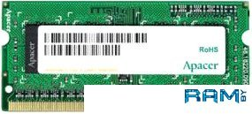 Оперативная память Apacer 8GB DDR3 SO-DIMM PC3-12800 [AS08GFA60CATBGJ]