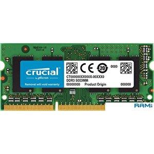 Оперативная память Crucial 16GB DDR3 SODIMM PC3-12800 CT204864BF160B