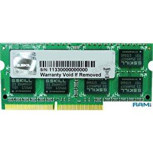 Оперативная память G.Skill Standard 4GB DDR3 SO-DIMM PC3-12800 (F3-12800CL11S-4GBSQ)