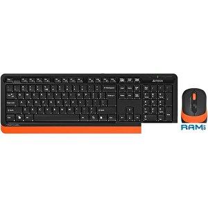 Клавиатура + мышь A4Tech Fstyler FG1010 (черный/оранжевый)
