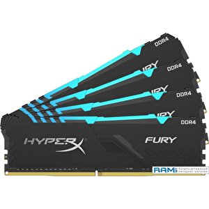Оперативная память HyperX Fury RGB 4x16GB DDR4 PC4-28800 HX436C17FB3AK4/64
