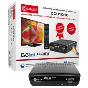 ТВ-тюнер D-Color DC910HD Black