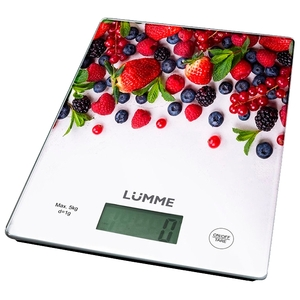 Кухонные весы LUMME LU-1340 ягодный микс сенсор