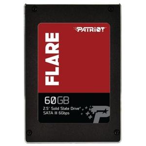 """Жест.диск SSD Patriot Blaze 60GB PFL60GS25SSDR 2.5"""", SATA III 6Gbps, последовательный доступ: 550/360 MBps"""