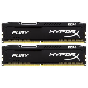 Оперативная память Kingston HyperX Fury Black 16Gb KiTof2 DDR IV PC-21300 2666MHz (HX426C16FB2K2/16)
