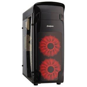 Корпус 700W Exegate EVO-8206 Red LED Black (EX277207RUS)