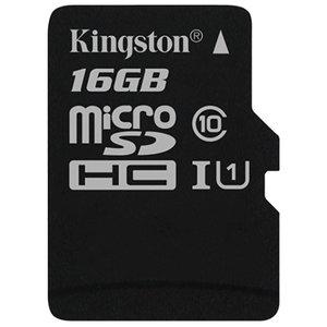 Карта памяти Kingston Canvas Select SDCS/16GB microSDHC 16GB (с адаптером)