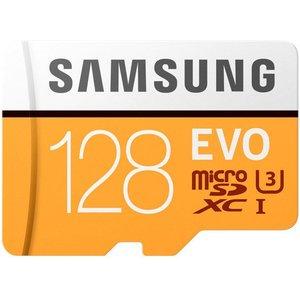 Карта памяти Samsung Evo microSDXC (Class 10) UHS-I 128GB +адаптер [MB-MP128GA]