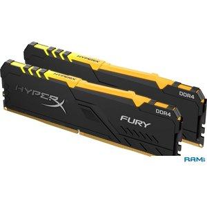 Оперативная память HyperX Fury RGB 2x8GB DDR4 PC4-25600 HX432C16FB3AK2/16