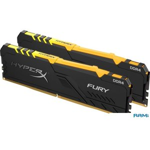 Оперативная память HyperX Fury RGB 2x8GB DDR4 PC4-27700 HX434C16FB3AK2/16