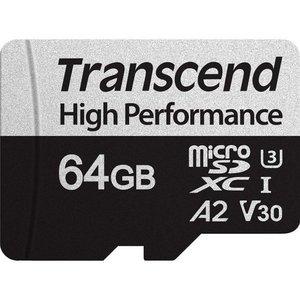 Карта памяти Transcend microSDXC 330S 64GB (с адаптером)