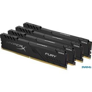 Оперативная память HyperX Fury 4x4GB DDR4 PC4-19200 HX424C15FB3K4/16