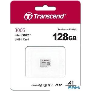 Карта памяти Transcend microSDXC 300S 128GB