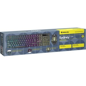 Клавиатура + мышь Defender Sydney C-970 RU