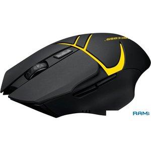 Мышь Jet.A Comfort OM-U64G (черный/желтый)